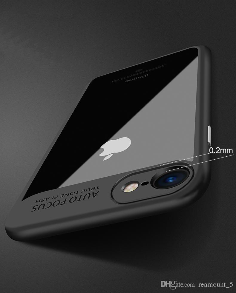 Şeffaf Kılıf iPhone 8 Plus Yumuşak TPU Ultra İnce İnce Kapak iPhone 7 6
