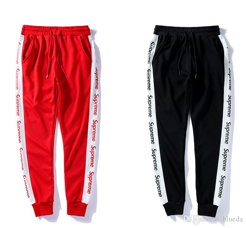 9b1483d9 2019 Fashion Street Wear Striped Joggers For Men Letter Print Drawstring  Tide Men Pants New Casual Men Sport Joggers From Blueda, $36.54 | DHgate.Com