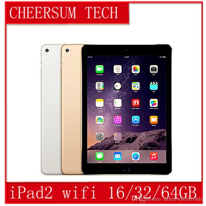 "Refurbished iPad 100% Original Apple iPad2 16GB 32GB 64GB Wifi iPad 2 Apple Tablet PC 9.7"" IOS refurbished Tablet 5pcs free DHL"