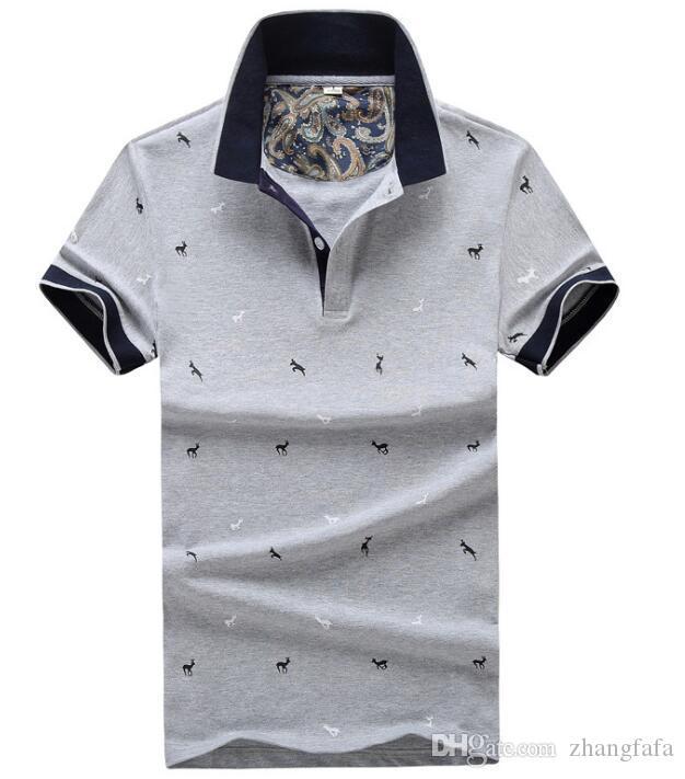 2018 Hot Sales Polos Shirt Luxury Design Male Summer Turn-Down ... 0850fcb1d0b3