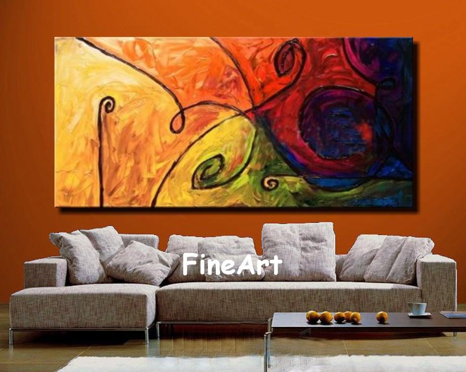 2019 Handmade Abstract Oil Painting Big Canvas Oil Painting Art