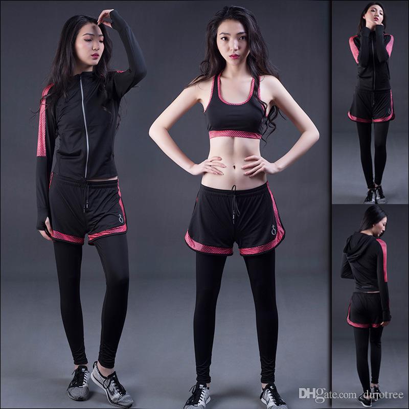 3pcs Workout Yoga Sets Sport Suit Winter Sports Bra Wear+jacket Hoodie+pants Woman Gym Fitness Clothing Yoga Clothes Plus Size Home