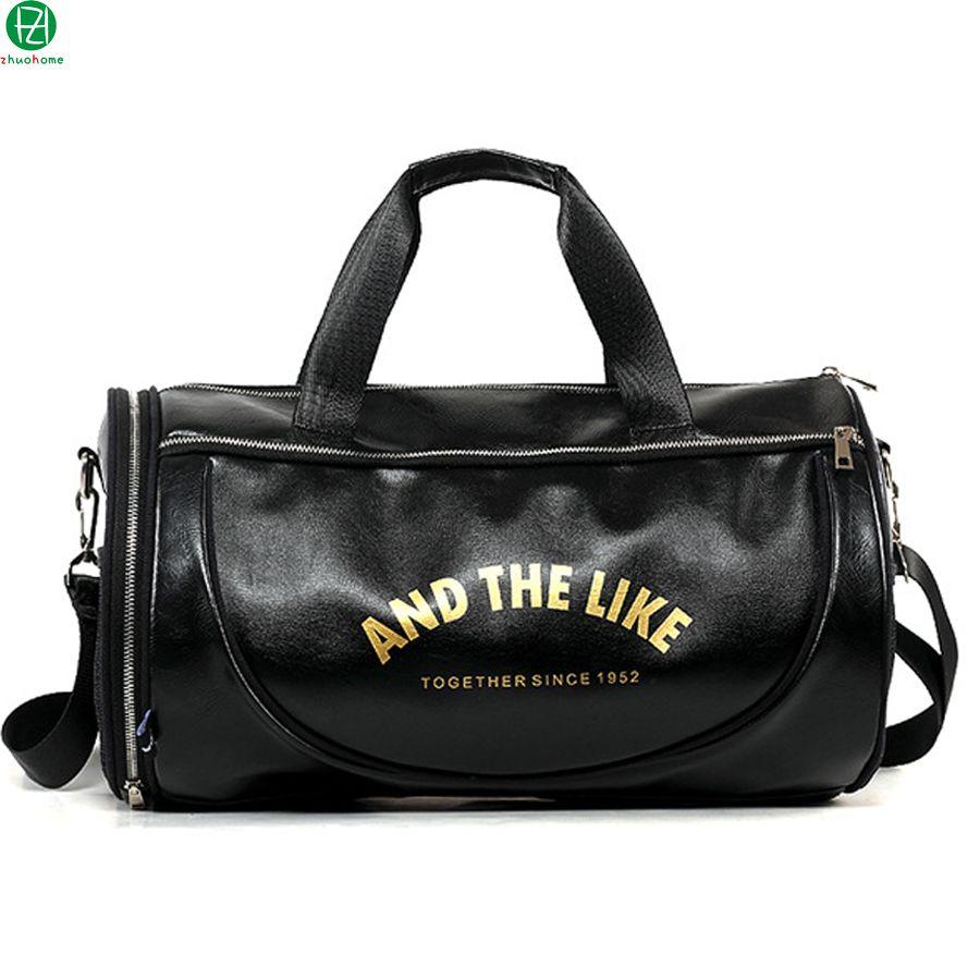 d9c21c25a47d Wholesale High Quality Leather Man Bags Barrel Hot Sale Men Travel Luggage  Bag Big Handbag Tote Bolsa Men Shoulder Crossbody Duffel Bags Toiletry Bags  Best ...
