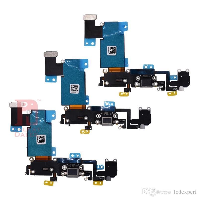 Connecteur de dock Port de chargement USB Casque Jack audio Antenne Mic Flex pour iPhone 5 5s 5c SE 6 6s 7 8 Plus X