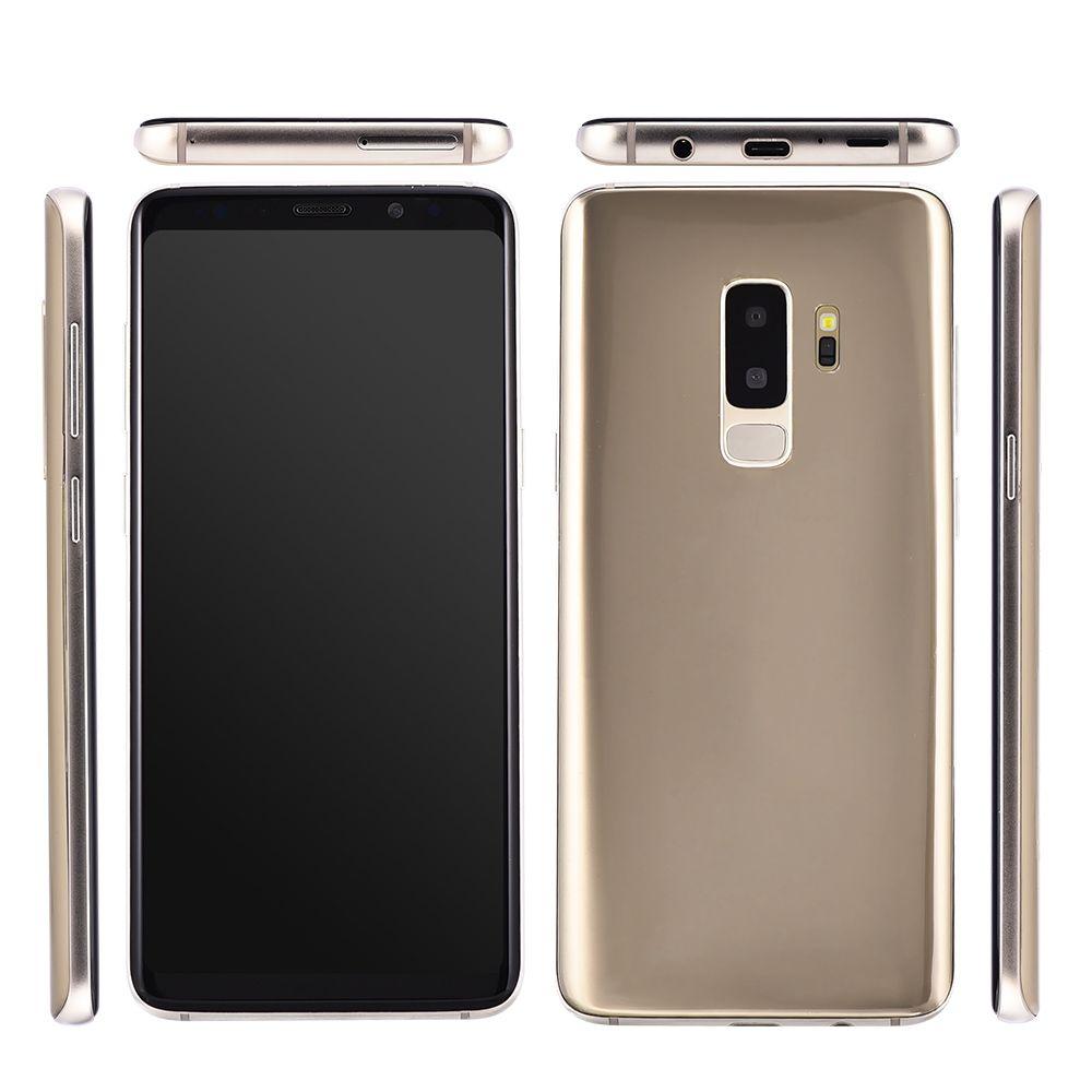 Barato Goophone S9 + Clone 2G GSM desbloqueado 5.72 pulgadas IPS 960 * 540 HD Dual Core MTK6572 512MB 512MB + 32GB GPS WiFi Cámara de 2MP S9 Plus Smartphone