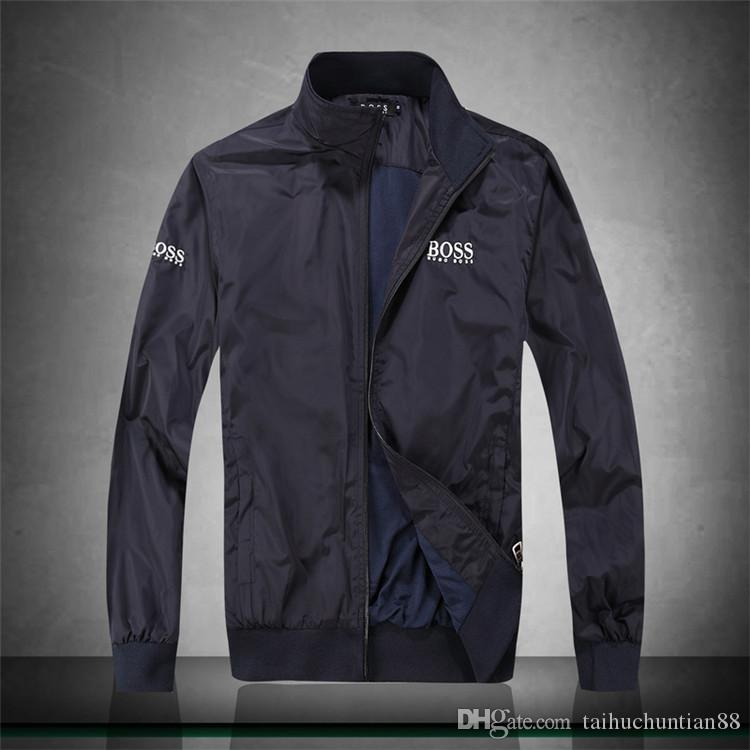 39de463cd MENS Athletic Jackets Brand Clothing for Male Windbreaker Jacket Thin Slim  Spring Summer Sports Wear Casual Coats