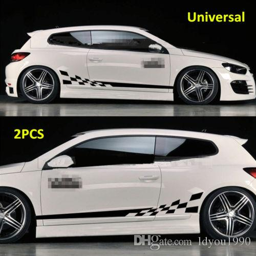 32a1a9d256 2019 Waterproof Car Decal Vinyl Graphics Side Stickers Body Decals Sticker  Black From Ldyou1990