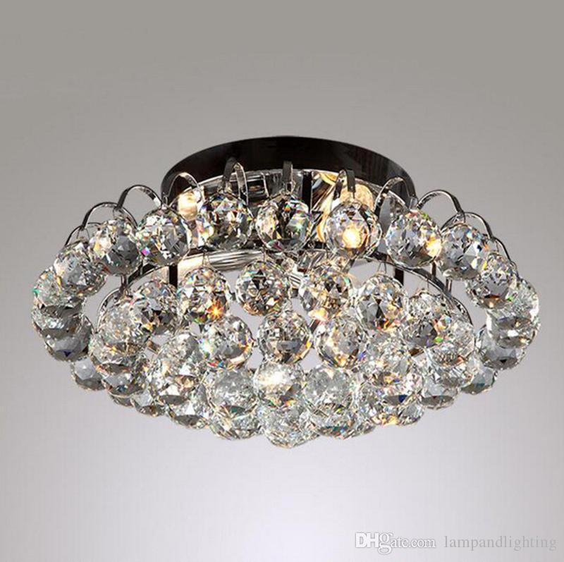 현대 40cm 럭셔리 크리스탈 둥근 크리스탈 공 장식 천장 조명 fixutre 표면은 거실 거실 침실에 대한 luminarias plafons 마운트