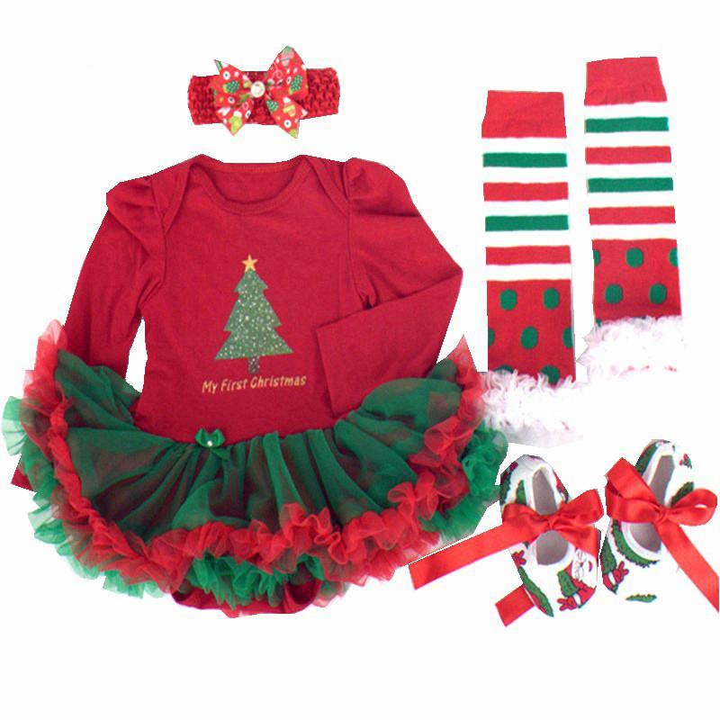 9f7af2878ee Compre Bebé Niña Bebé Ropa De Navidad Bebes Tutu Vestido Mameluco Del Árbol  De Navidad Traje Mi Primer Cumpleaños Fiesta De Disfraces Regalos A  26.95  Del ...