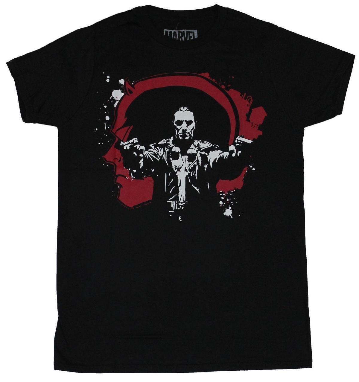 Compre O Justiceiro Marvel Comics T Shirt Dos Homens Punisher Em Daredevil  Splatter Tshirt O Pescoço Personalidade Verão Moda Masculina T Shirts De ... 951a282f69014