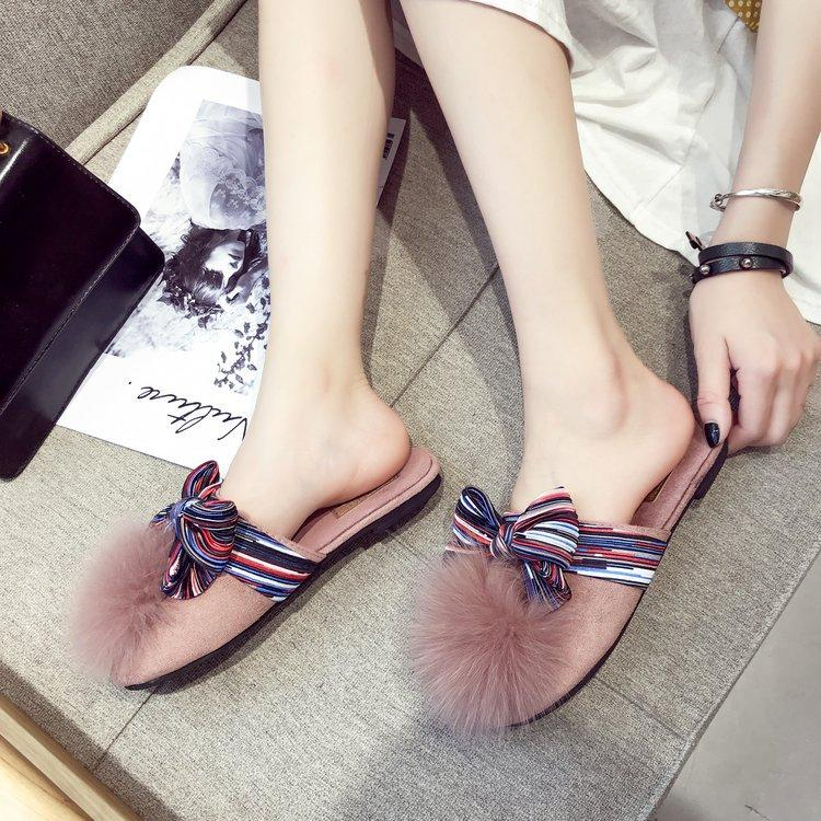 cca2643b8 2018 Brand Fur Slippers Fox Fur Female Winter Flip Flops Fur Cotton Sandals  Women S Comfortable Slide C85 Shoe Shop Cute Shoes From Kay5225