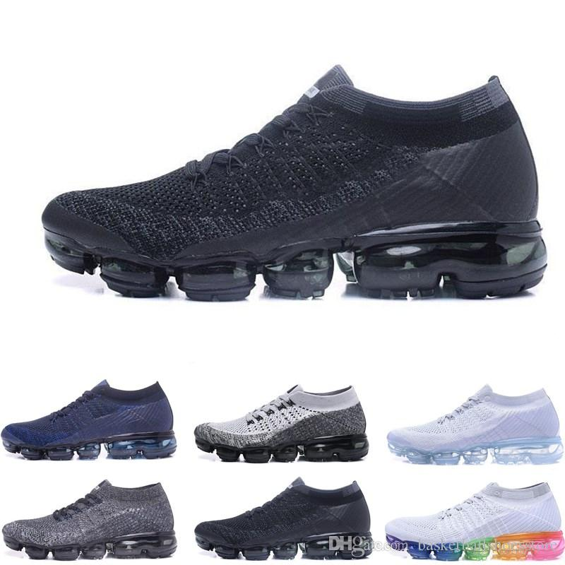 100% authentic e98d4 a3667 Compre Barato 2018 Ligero Zapatos Para Correr Hombres Mujeres Moda Deportes  Atléticos Zapato Corss Senderismo Correr Caminar Zapatillas De Deporte Al  Aire ...
