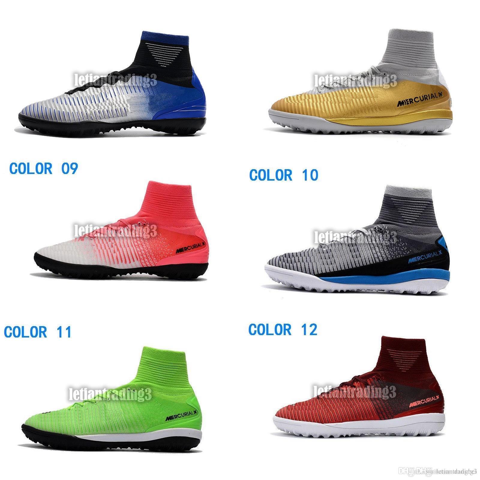 f9b67d4808da 2018 New Original Indoor Soccer Cleats Turf MercurialX Proximo TF IC Soccer  Shoes Ronaldo Mercurial Superfly CR7 Neymar Football Boots