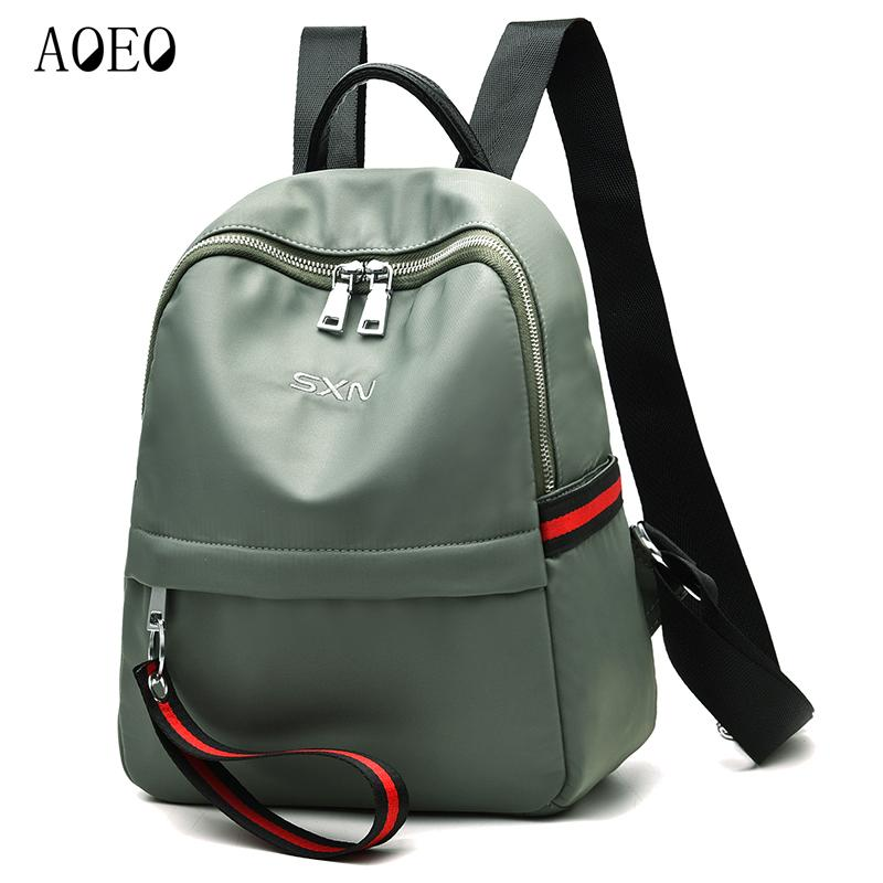 AOEO Backpack Female Zipper Fashion Oxford Waterproof Bagpack Quality  Durable Ladies Bags For Girls Student Women Backpack Osprey Backpack Tool  Backpack … 683e790d57d44