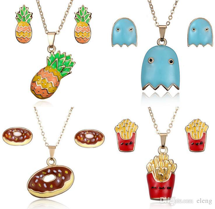 Wholesale 2018 new arrival women lovely donuts oil painting pendants wholesale 2018 new arrival women lovely donuts oil painting pendants necklaces earrings suit hip hop jewelry pendant 49 silver jewelry gold jewelry from mozeypictures Gallery