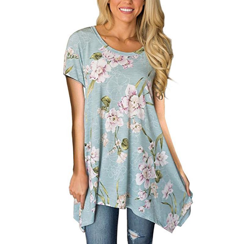 2e09d76c1 TIGENA Bohemian Harajuku T Shirt Women 2018 Summer Fashion Floral Print T  Shirt Women Graphic Tops Tee Shirt Femme Tshirt Neck T Shirts T Shirts Only  From ...