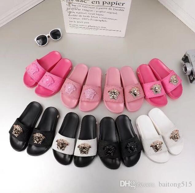 55248239bbdc Sandals Medusa Shoes Menswear Summer Flowers Zip Slippers Slippers Black  White Brands Love Shoes Slideshow Designer Women Sandals With Box Online  with ...
