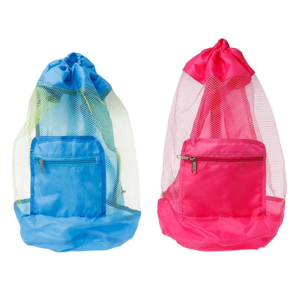 b6934965de0 2019 Large Mesh Beach Bag Folding Pool Toys Storage Backpack Durable  Drawstring Sack From Brendin, $33.77 | DHgate.Com