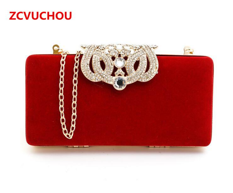 56d587941f 2017 Clutch Evening Bags Crown Rhinestones Evening Bags Purse Shoulder Bag  For Wedding Diamonds Lady Purse Mini Small Handbags Clutch From Annawawa,  ...