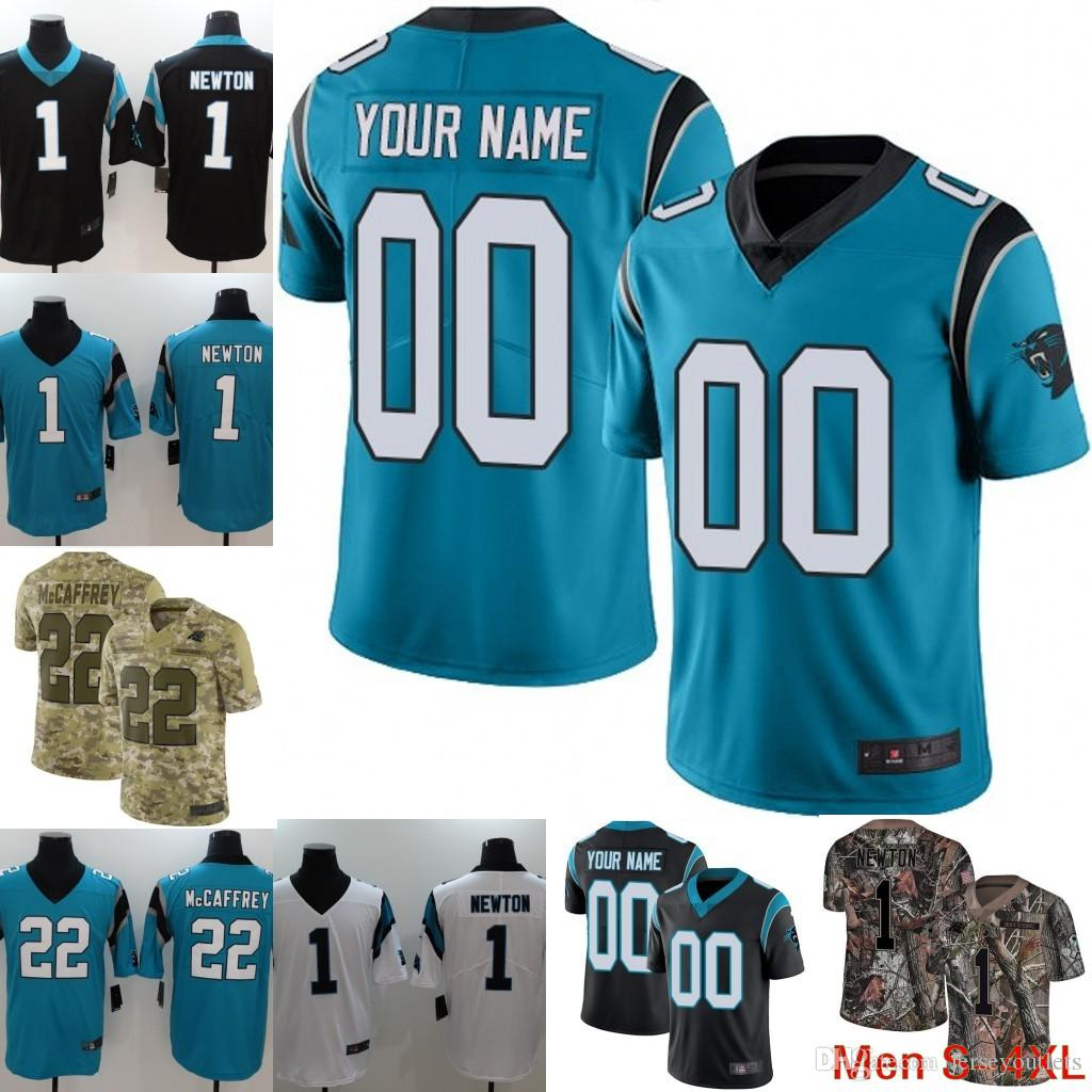 2018 Custom Men Youth Women Carolina Panthers Black Vapor Untouchable 59  Luke Kuechly 1 Cam Newton Camo 22 Christian McCaffrey Realtree Jersey 02  From ... 715f49fab