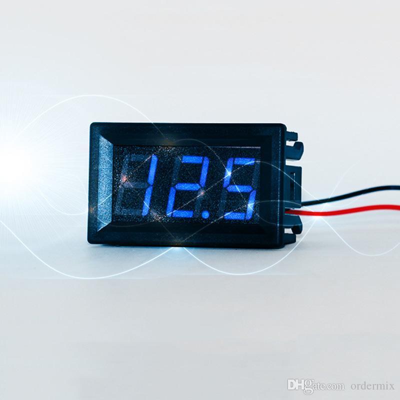2 провода мини светодиодный цифровой дисплей вольтметр высокого качества DC 2.5-30 в аккумулятор тестер светодиодный усилитель цифровой вольтметр датчик