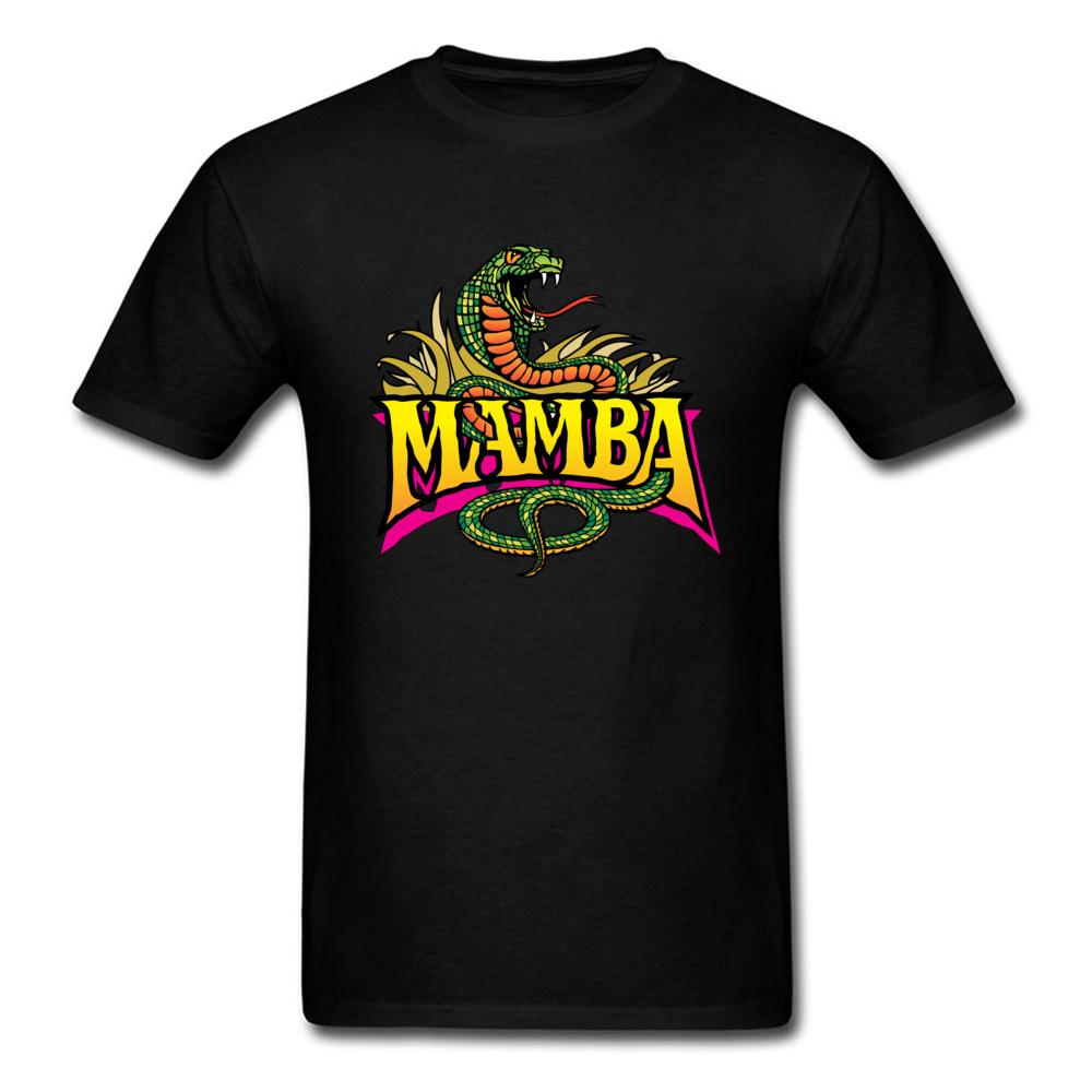 Summer Mamba Snake Print Black T Shirt 2018 Cool Men Tops Family