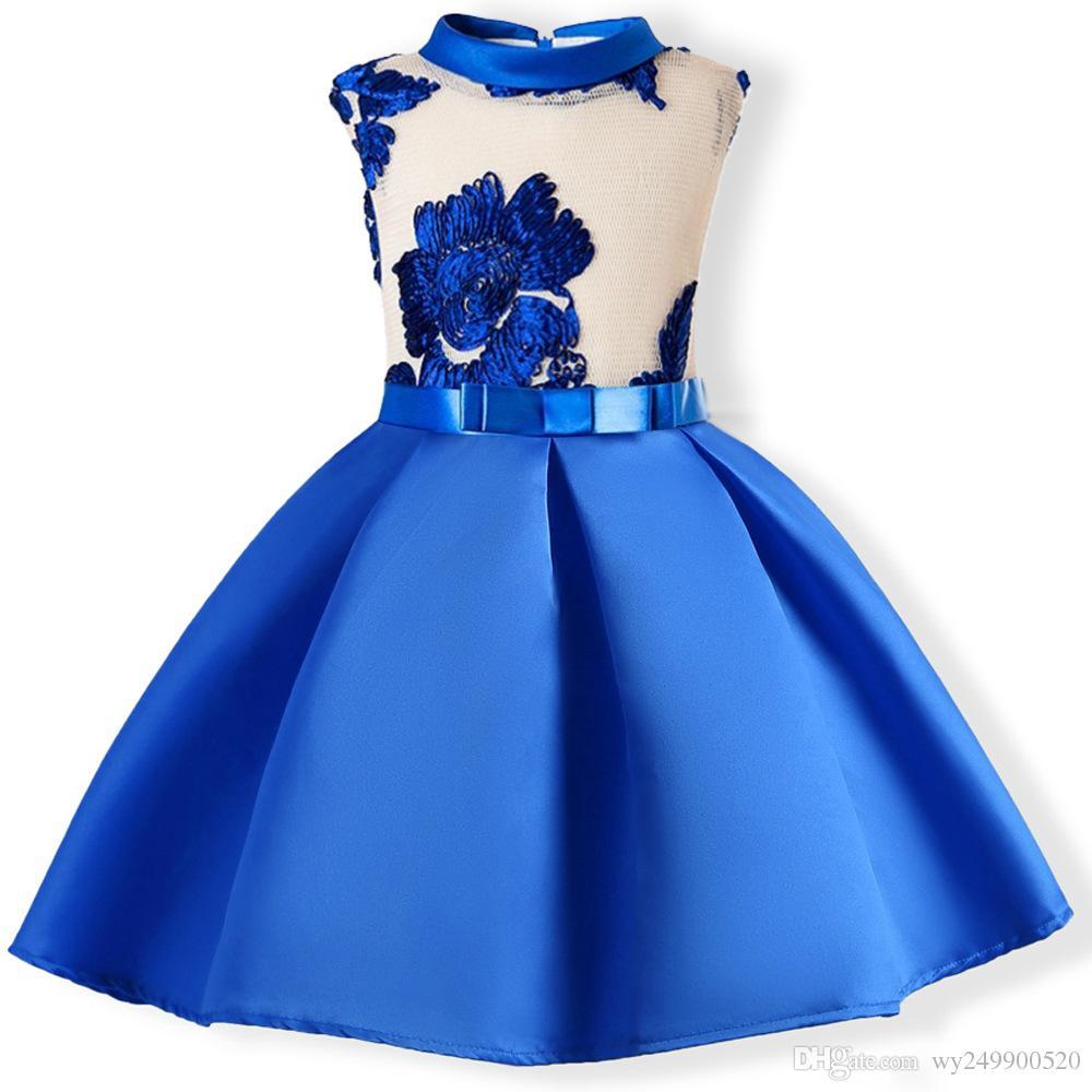 горячие девушки o-образным вырезом бантом платье без рукавов высококлассные Европейский и американский стиль Принцесса слоеного платье Оптовая бесплатная доставка