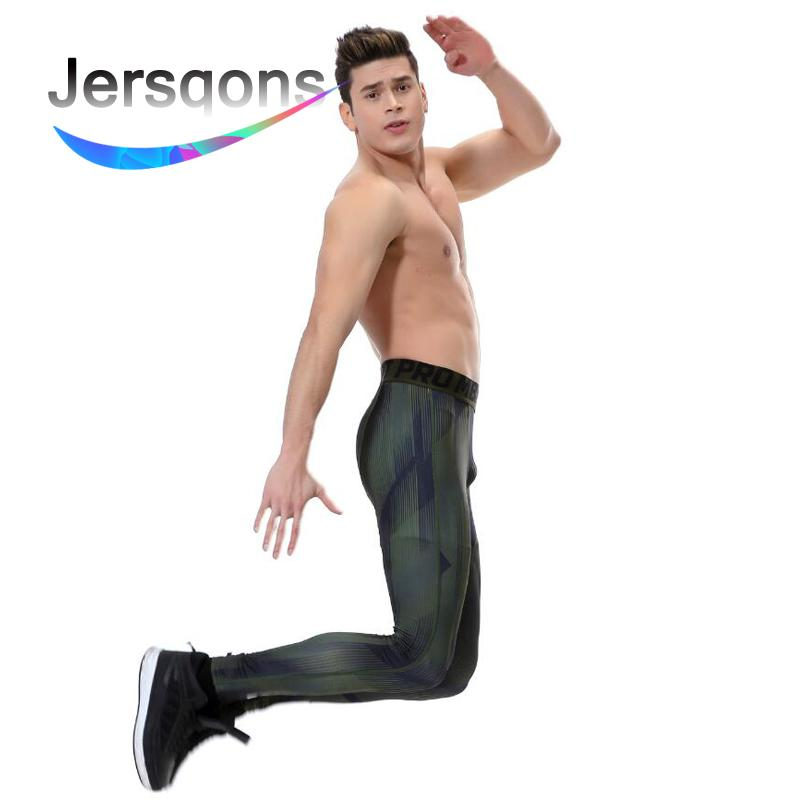 dbf93d0110884 2019 Jersqons Men Running Tights Compression Yoga Pants GYM Exercise  Fitness Leggings Workout Basketball Exercise Train Sportswear From  Yiquanwater