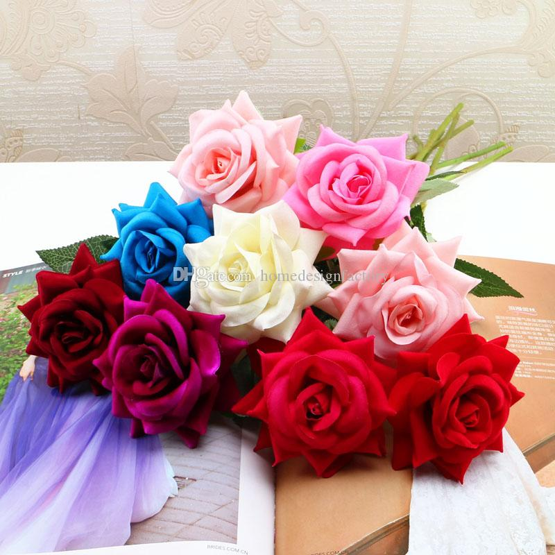 Artificial Rose Silk Craft Flowers Real Touch Flowers Elegant Rose