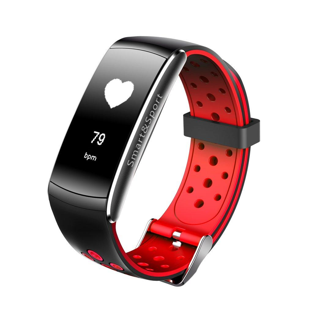 Q8 Heart Rate Smart Watch Monitor Fitness Tracker Bluetooth Monitor Blood Pressure Blood Oxygen Measure Wristwatch