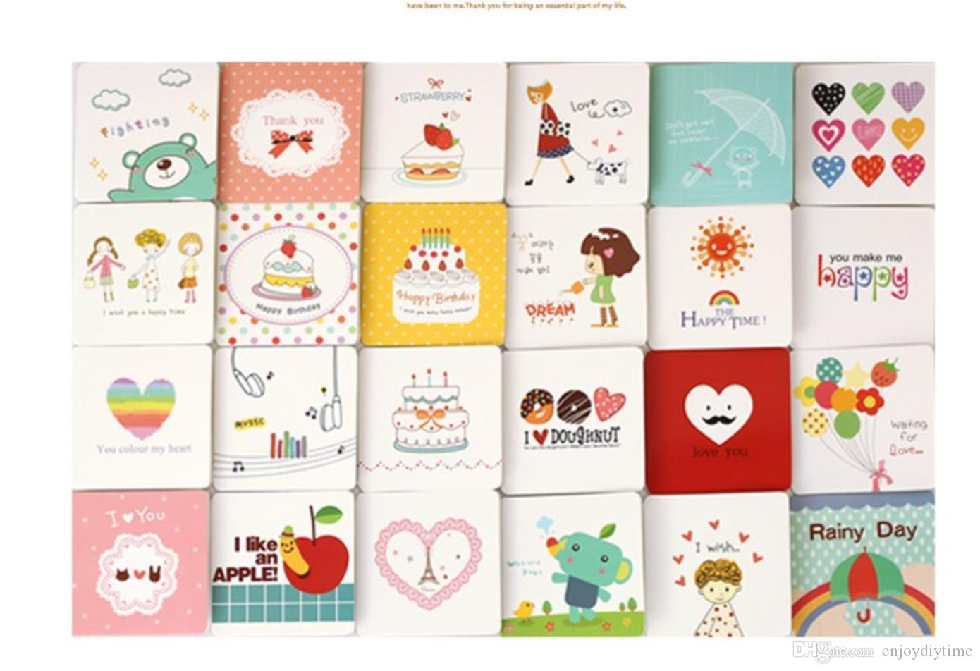 Wholesale Mini Size Cute Cartoon Heart Design Greeting Cards With ...