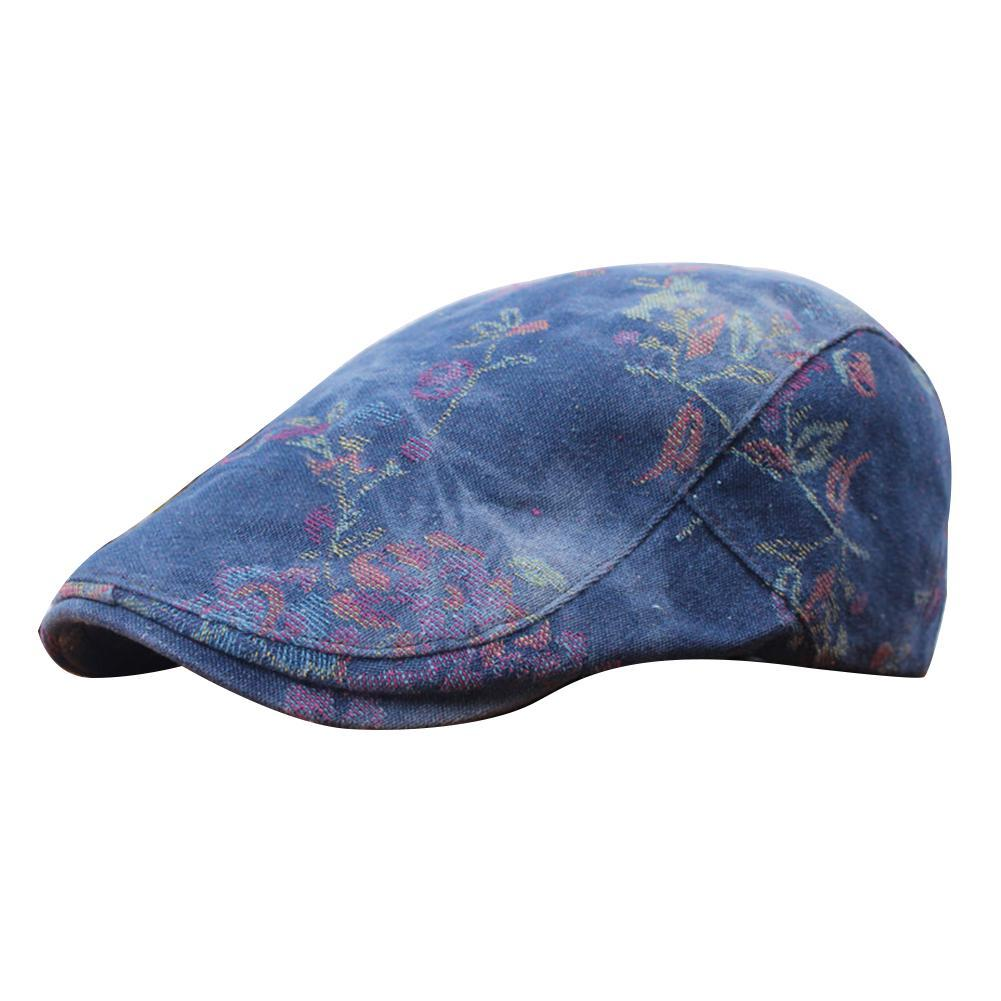 2019 Denim Old Style Berets Short Brim Summer Hat Denim Classic Beret  Unisex Leisure Outdoor Sunscreen Cap Hats National Style From Peniss 3da336cf3a6