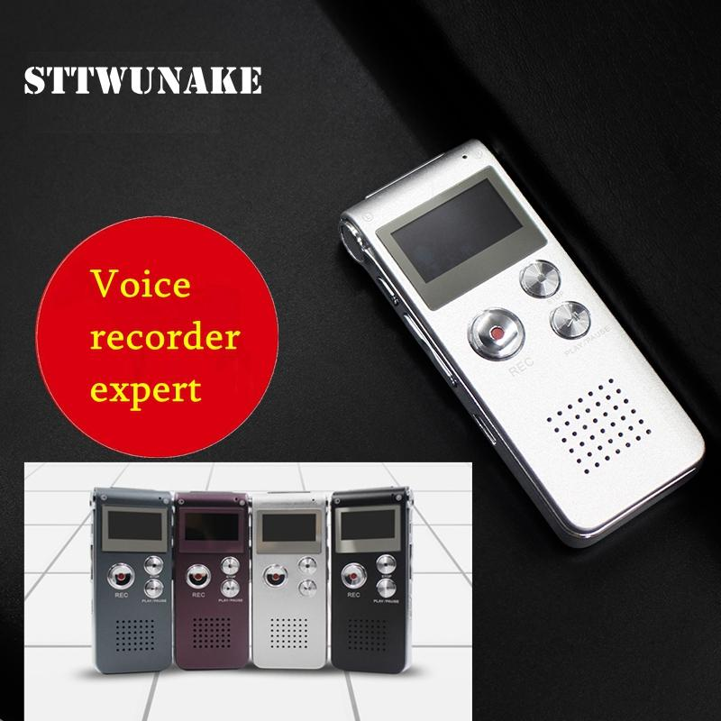 STTWUNAKE High quality mini digital voice recorder intelligent noise  reduction 8GB Mini USB Flash Digital Audio Voice Recording