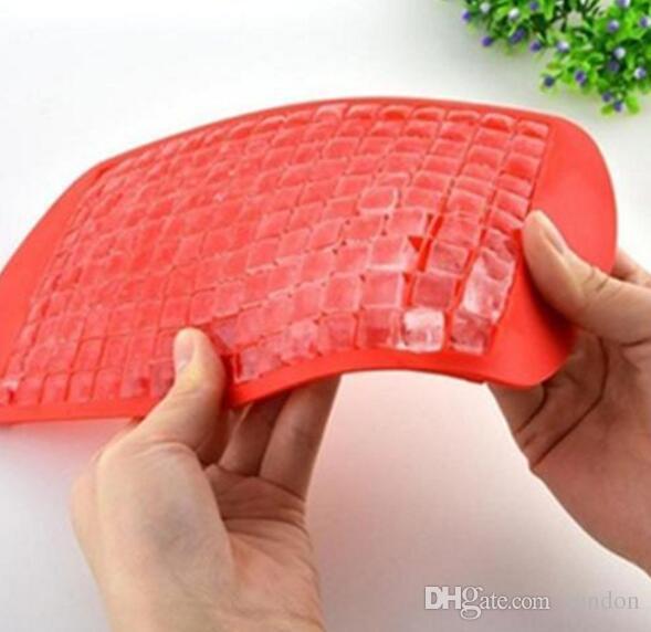 160 Grids DIY Criativo Pequeno Cubo de Gelo Mold Quadrado de Silicone Bandeja De Gelo De Frutas Ice Cube Maker Bar Acessórios de Cozinha