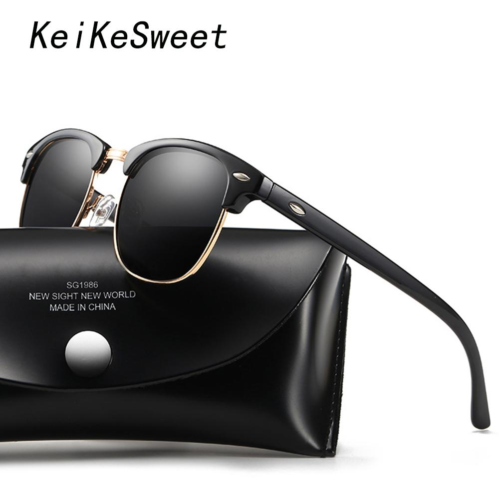 adb96fa94c5 KeiKeSweet HD Polarized Hot Men Women Vintage Fashion Rays Sun Glasses  Brand Designer Lady Luxury Outdoor Top Driving Sunglasses Wiley X Sunglasses  Mirror ...