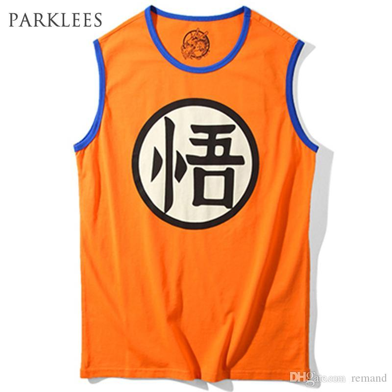 0204b4cf8938a 2019 Wholesale Dragon Ball Z Tank Tops Men 2017 Summer Goku Printed Mens  Tank Top Cotton Vest Man Hip Hop Style Streetwear Male Clothing Tops From  Remand