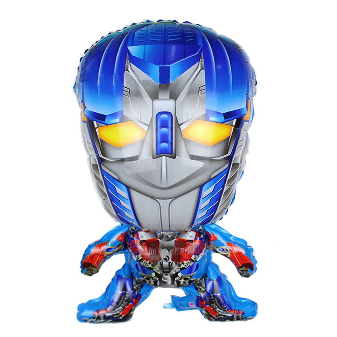 72x43cm Iron Man Cartoon Super Hero Gundam Foil Balloon Baby Child