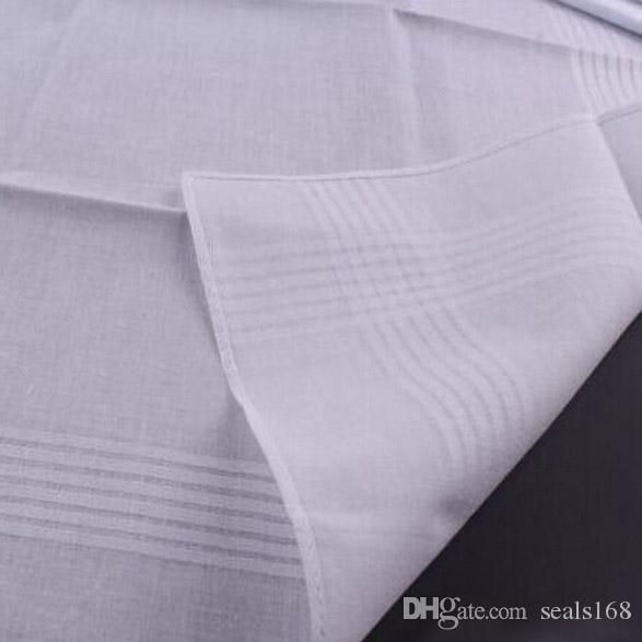 100% Хлопок Белый Платок Мужской Стол Атласный Платок Полотенце Квадратный Вязать Пот-абсорбент Полотенце Стиральная Для Ребенка Взрослых HH7-916