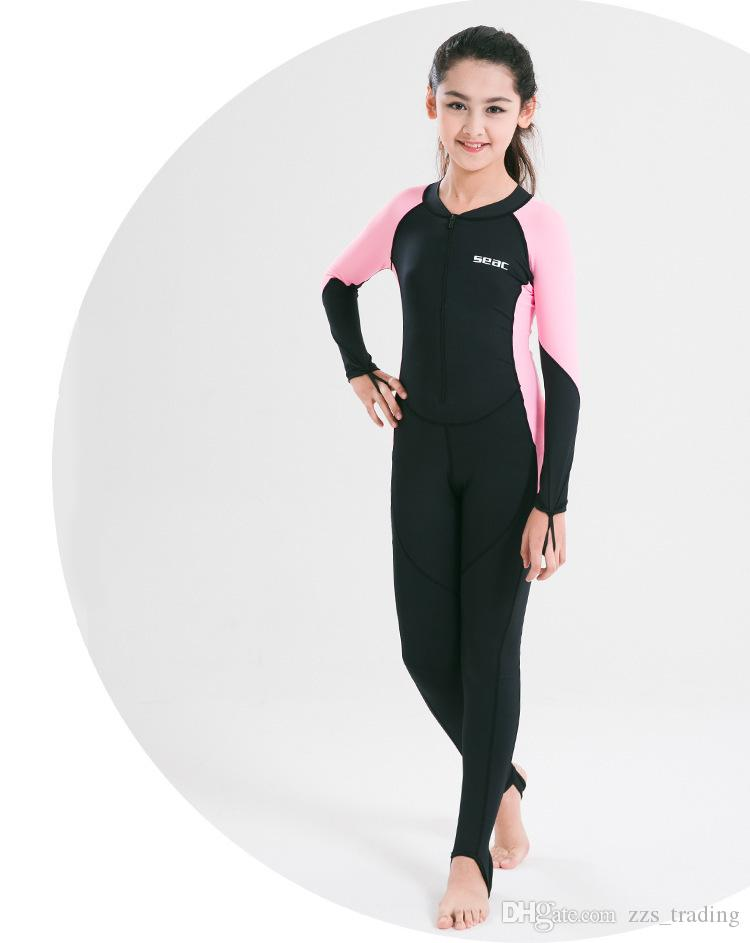 516a48af8 2019 Neoprene 0.5mm Swimming Dress Kids Boys Girls Snorkeling Clothing  Children'S Sun Protection Child Diving Suit Wetsuits Soft Small Fresh From  ...