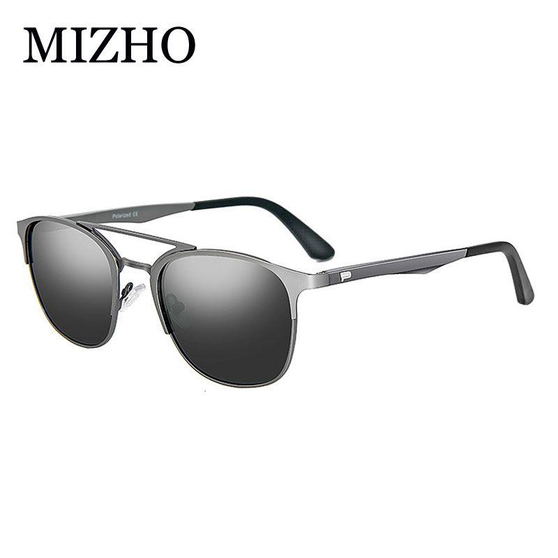 Compre Mizho Retro Aluminio Magnesio Marca Hombres Gafas De Sol Lentes  Polarizadas Accesorios De Gafas Vintage Gafas De Sol Para Mujeres Clásico A   33.02 ... ccf3f3e52003