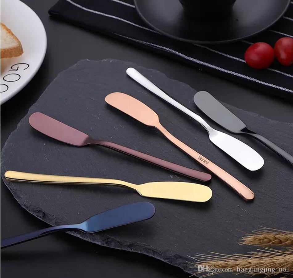 الفولاذ المقاوم للصدأ الغربية كعكة ملعقة زبدة سكين ل فطيرة بيتزا الجبن المعجنات خادم الموز الموزعة الإفطار أداة OOA4176
