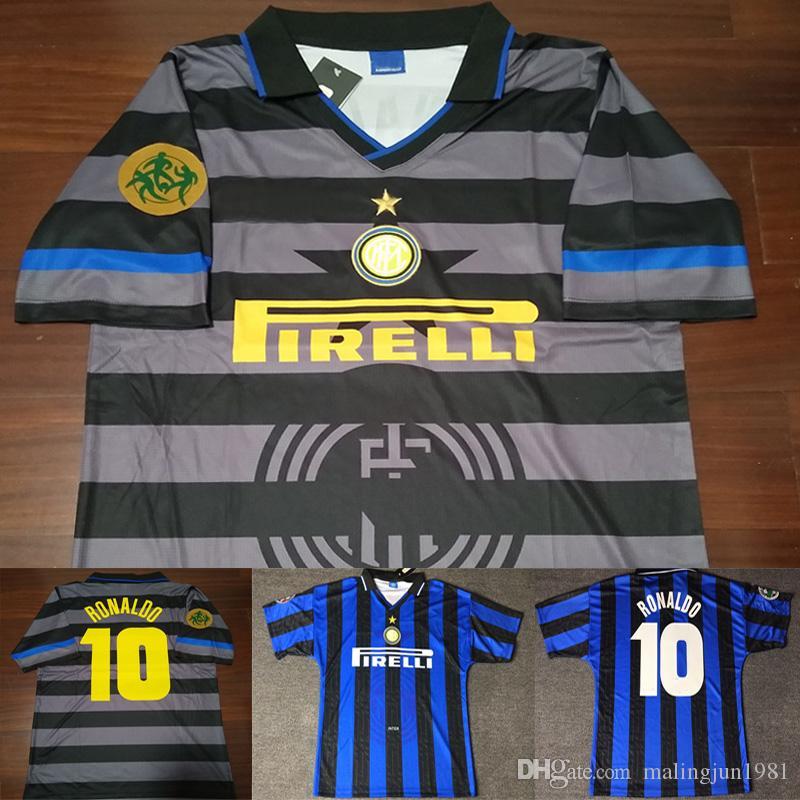 Velvet Number 1998 Vintage Calcio MAGLIA 98 Inter Retro Ronaldo ... c86b0cc4932ec
