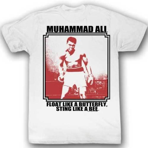 Muhammad Ali Framed Picture In Ring Adult T Shirt Boxing Cotton ...