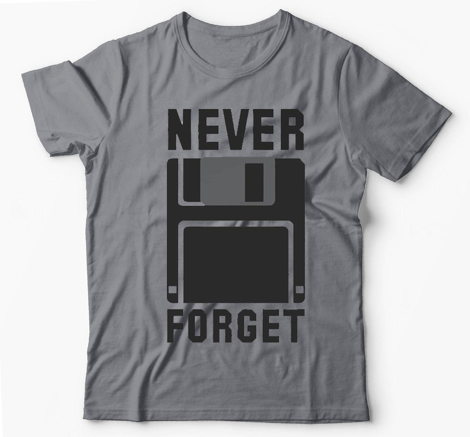 NEVER FORGET FLOPPY DISK SILICON VALLEY FUNNY GREY T-SHIRT Cool Casual pride t shirt men Unisex New Fashion tshirt