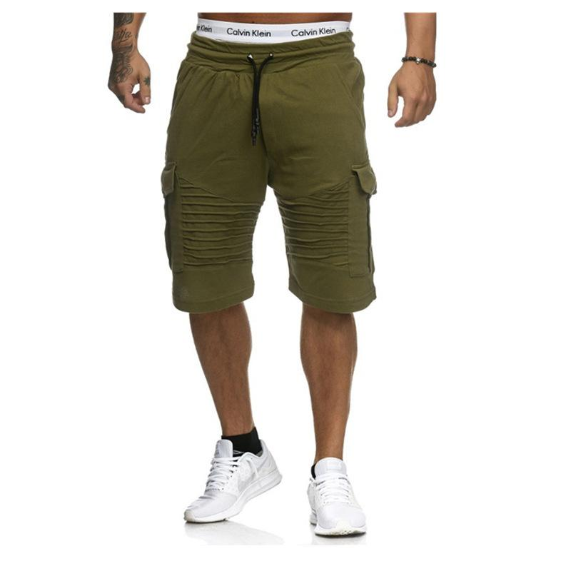 844634a8e2 cotton men's Bermuda shorts breathable comfort beach Bodybuilding  Sweatpants Shortpant Fitness Jogger Solid Color Casual Bottoms