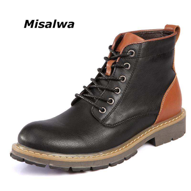 Misalwa Luxury Autumn Winter Man Shoes Ankle Boot Men S Snow Shoe Work  Mixed Color Handmade Martin Boots Snow Boots Chelsea Boot Mens Chelsea Boots  From ... cb1e4e0e9a52