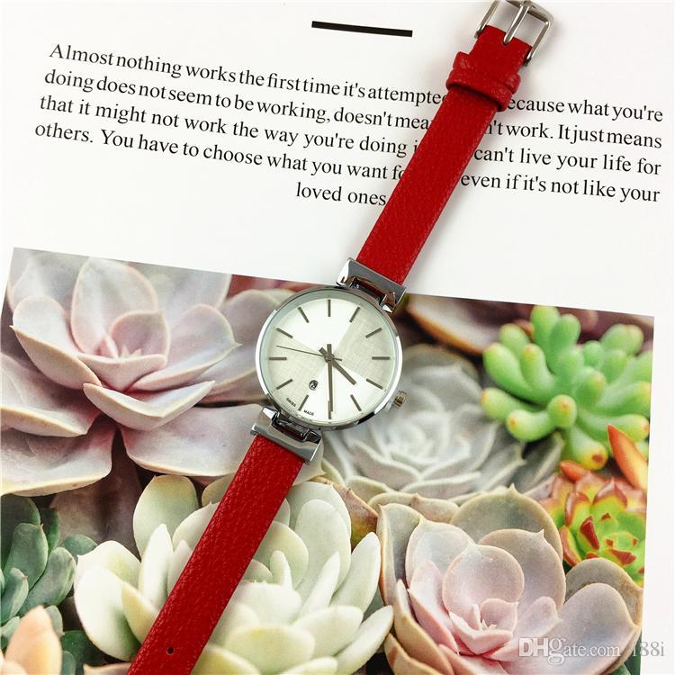 2019 nouvelle arrivée de luxe femmes montres mode marque dame montre-bracelet en cuir en acier à quartz multi couleurs vente chaude robe montre élégante beauté