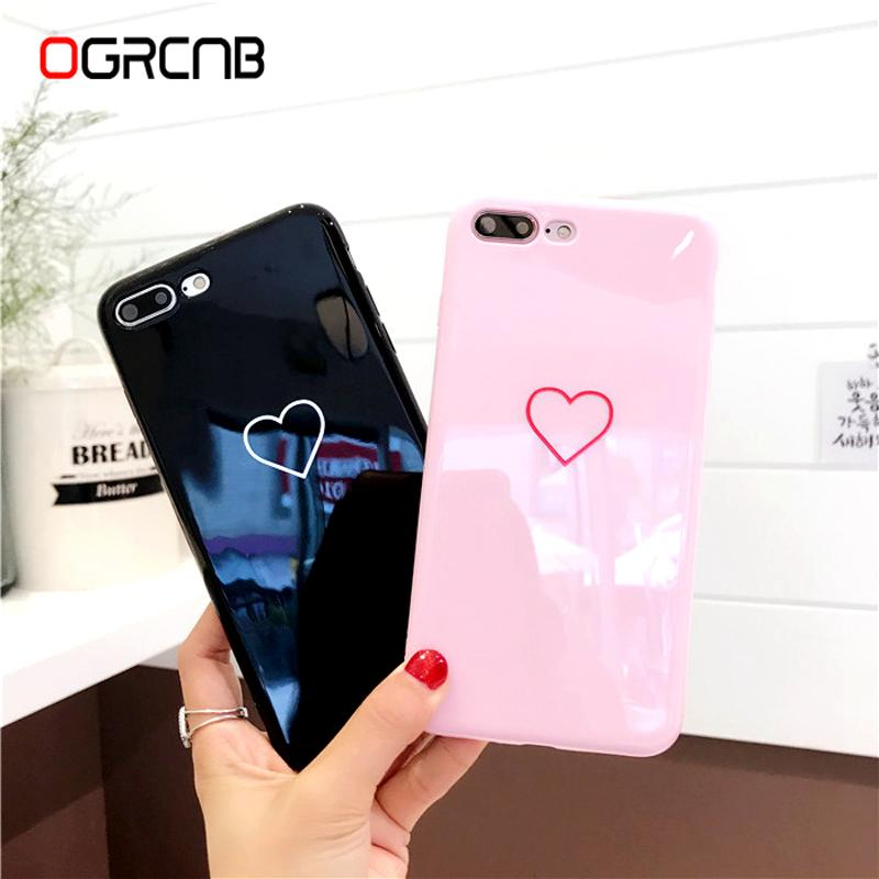 8e32f3406c0ac Lovely Heart Painted Phone Case For Iphone 6 7 8 Case Fashion Couples Back  Soft TPU Cover Cases For Iphone 6 6s 7 8 Plus 8 Case Best Phone Cases Buy  Cell ...