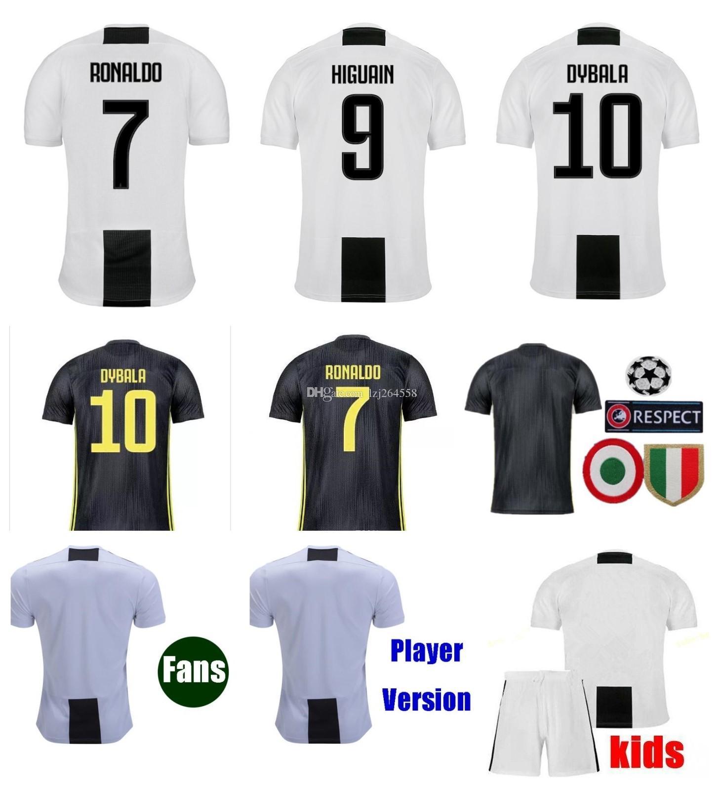 2018 Top Thai RONALDO JUVENTUS Soccer Jersey 2018 2019 DYBALA HIGUAIN  Football Shirt MANDZUKIC Uniform Fans Player CR7 18 19 Men Women Kids S 4XL  From . a2ed8780b