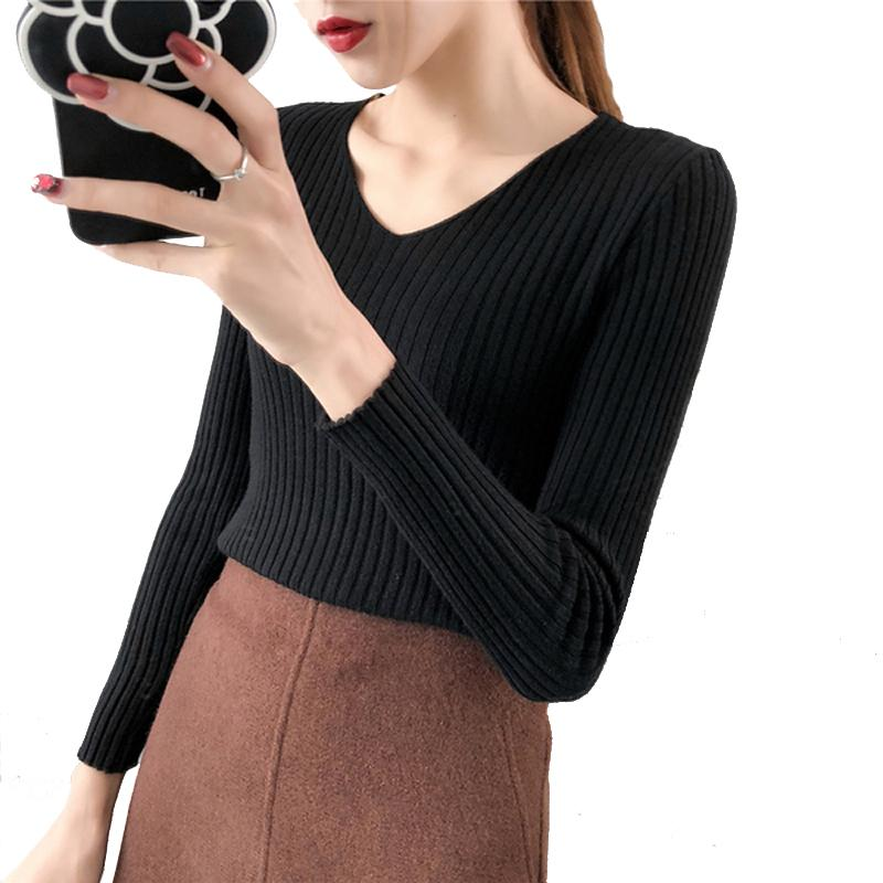845d4951f Discount Sweater Women Autumn And Winter Korean Fashion V-neck Long ...